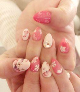 桜満開ネイル